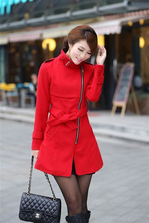 Anting Import Stylish 17 autumn and winter trench stylish slim belt wool blend trench coat