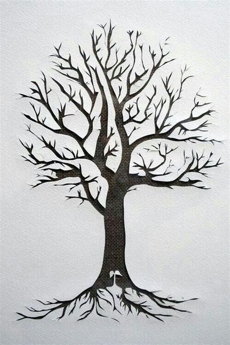 Tree Sprout Tattoos Pinterest Siluetas Arboles Arbol Huellas And Siluetas Tree Stencil Template
