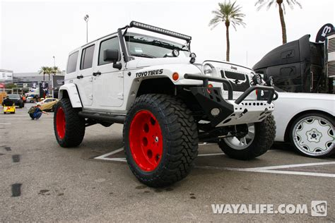 badass 2 door jeep 2013 sema white kao jeep jk wrangler 4 door
