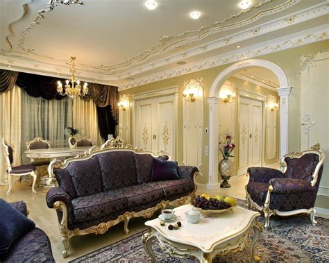 style living room baroque style interior design ideas