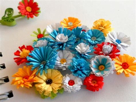 How To Make Flowers With Paper Quilling - how to make quilled fringed flowers 187 paper quilling