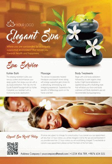 Spa Free Psd Tri Fold Psd Brochure Template By Elegantflyer Spa Flyer Templates Free