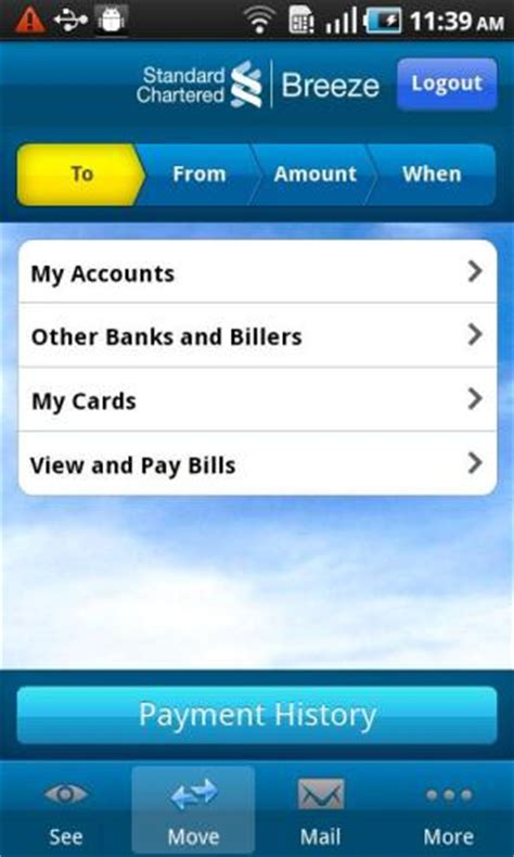 how to make standard chartered credit card payment standard chartered launch mobile banking app