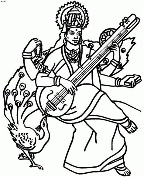 Saraswati Coloring Pages free saraswati puja coloring pages