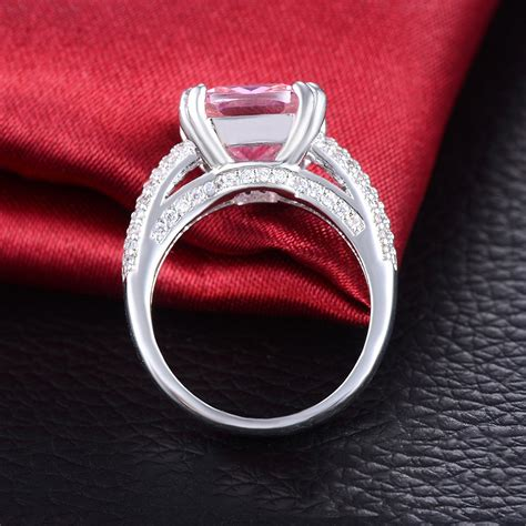 High End Engagement Rings by High End Fashion Ultra Luxury Inlaid Pink Cz Engagement