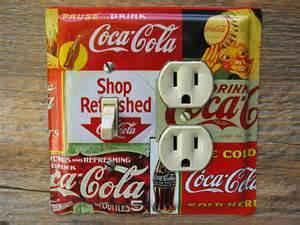 coca cola decor kitchen diner theme lighting light switch