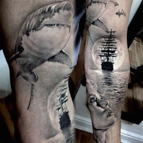 men s ghost ship tattoo inner arms tattoos good and bad