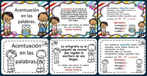 imagenes educativas reglas ortograficas reglas generales de acentuaci 243 n en formato tarjetas listas