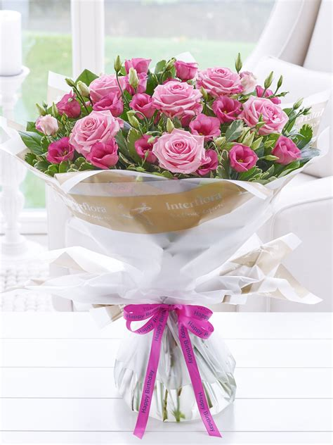 birthday flowers images happy birthday pink lisianthus