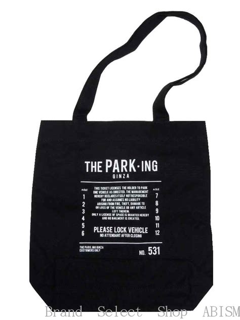 Ginza Tote 楽天市場 the park ing ginza ザ パーキング銀座 souvenir tote bag s