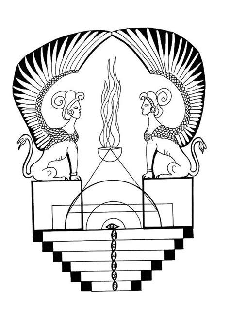 egyptian mandala coloring pages egyptian sphinx mandala coloring pages hellokids com