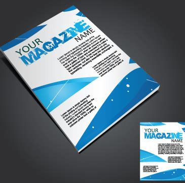cover design elements magazine cover page design free vector download 6 380