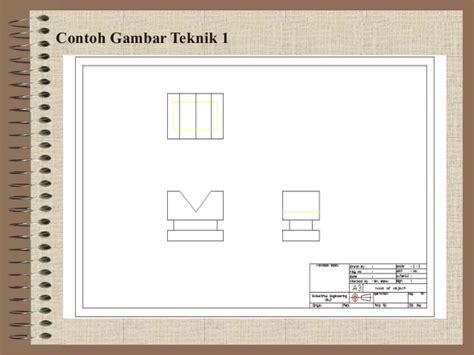contoh format gambar teknik materi dasar gambar teknik