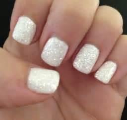 white diamond gel nails nailed it pinterest