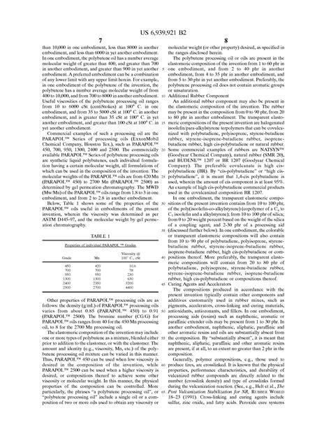 colorable claim patent us6939921 colorable elastomeric composition