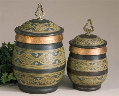 lovely decorative canisters kitchen 4 terracotta canister
