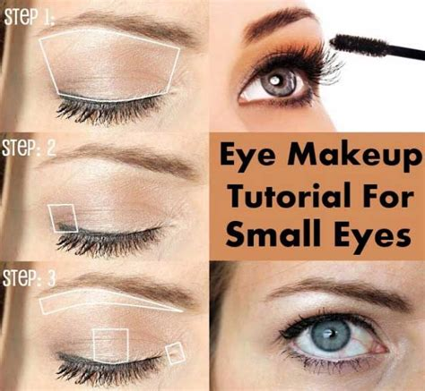 eyeshadow tutorial for small eyelids 34 makeup tutorials for small eyes the goddess