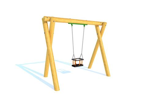 timber swing seat timber swing 2m with cradle seat pentagon play