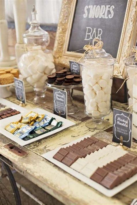 country rustic wedding dessert table ideas   day