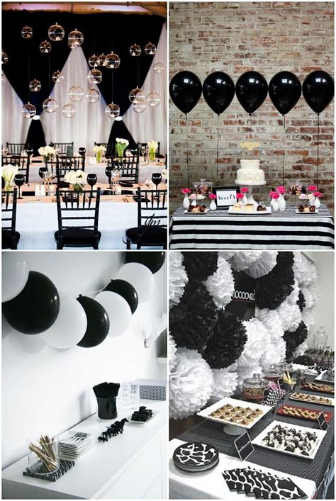 Party Themes Black | simple black and white party ideas pinteres