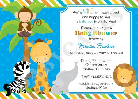 free jungle invitation template jungle jungle animal