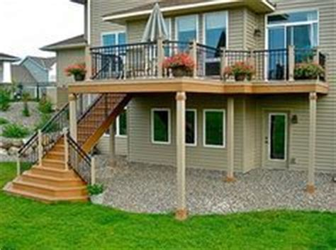 Bi Level Floor Plans With Attached Garage by 1000 Images About Deck On Pinterest Two Story Deck