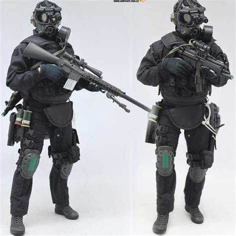 6 figure weapons 1 6 american special weapons and tactics swat soldier set