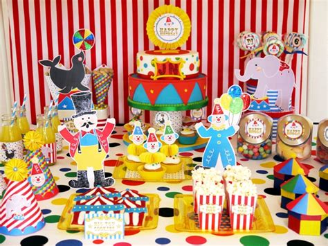 circus themed birthday decorations southern blue celebrations circus ideas