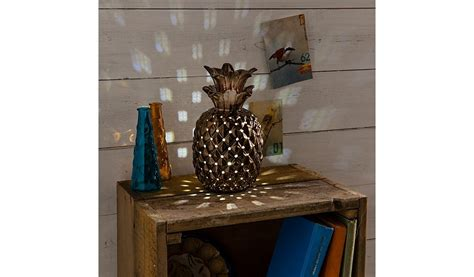 Bedroom Furniture On Sale by George Home Copper Effect Pineapple Table Lamp Home