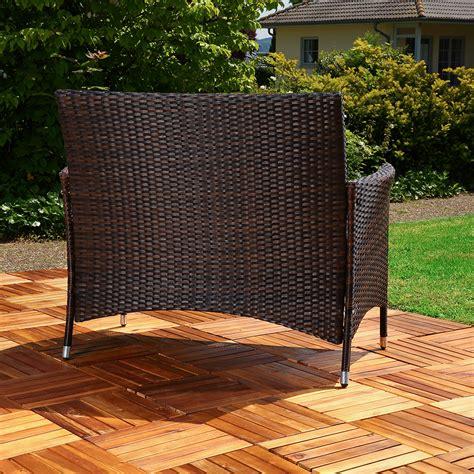 sofa auflage gartenbank rattan schwarz braun mit auflage sitzbank