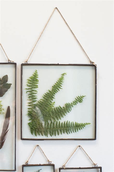 "Hanging Metal Double Glass Frame 14"" x 14.75"""