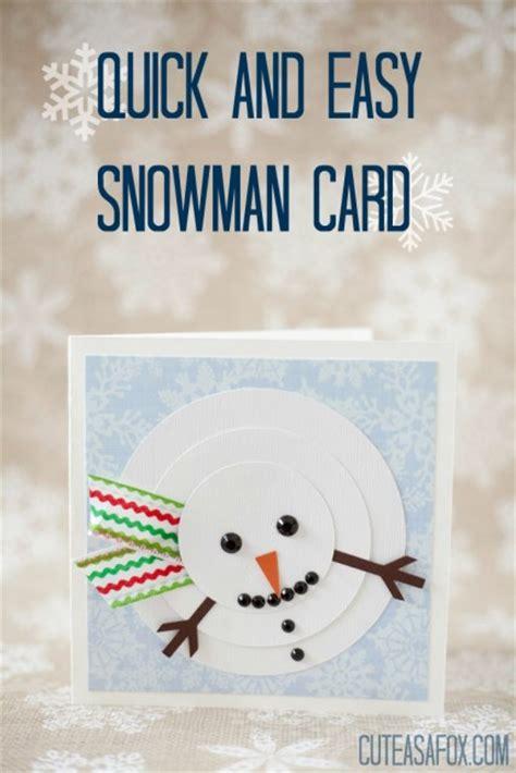 card snowman template snowman card