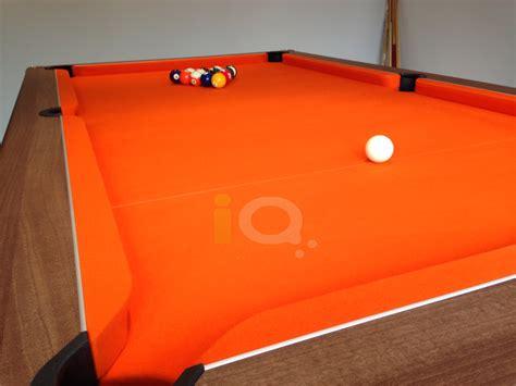 orange pool table cloth pool table installations showcase iq