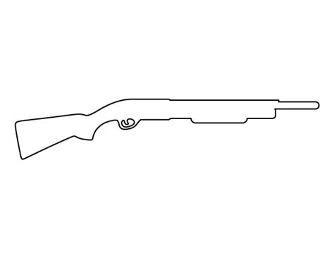 printable gun stencils shotgun pattern use the printable outline for crafts