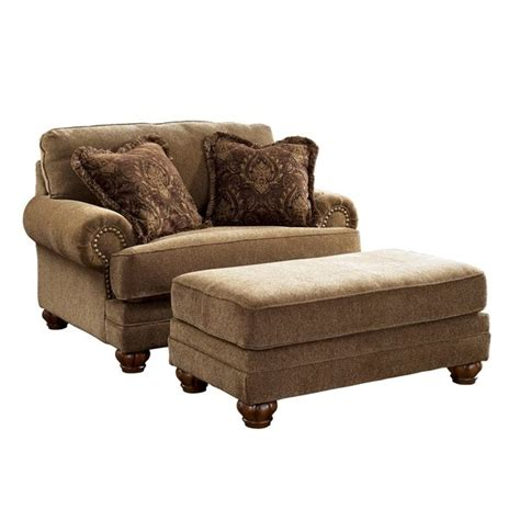 ashley chair and ottoman signature design by ashley stafford chair and a half with