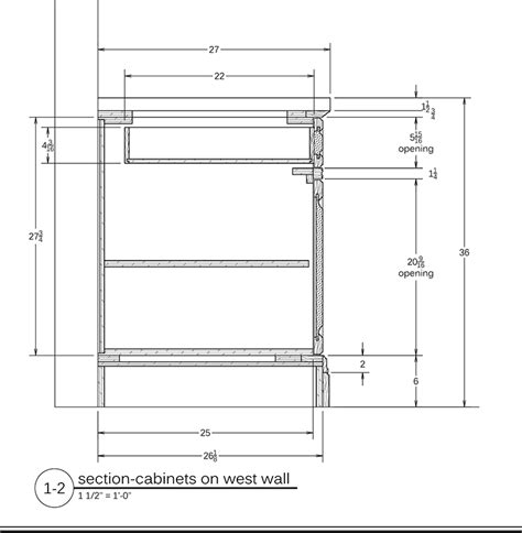 kitchen cabinet section cabinet millwork drawings readwatchdo com