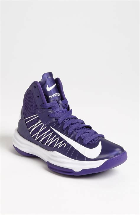 purple and black nike basketball shoes nike lunar hyperdunk basketball shoe in purple court