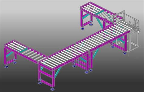 roller conveyor turner  dwg detail  autocad designs cad
