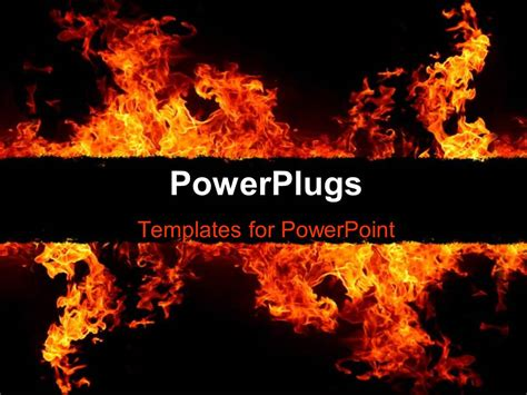 powerpoint themes free download fire powerpoint template fire flames over dark background 12288