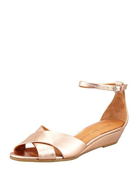Wedges Selop Cv 05 Gold marc by marc metallic napa wedge sandal gold in metallic lyst