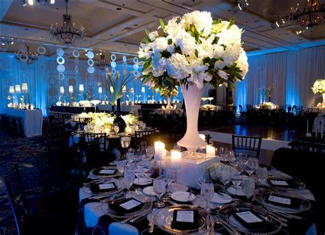 bar mitzvah table centerpieces real stories a black and blue havdalah bar mitzvah at the