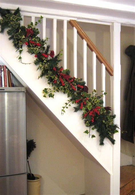 banister decorating ideas the bottom of christmas banister decorating ideas view