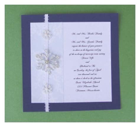 Snowflake Wedding Invitations Diy