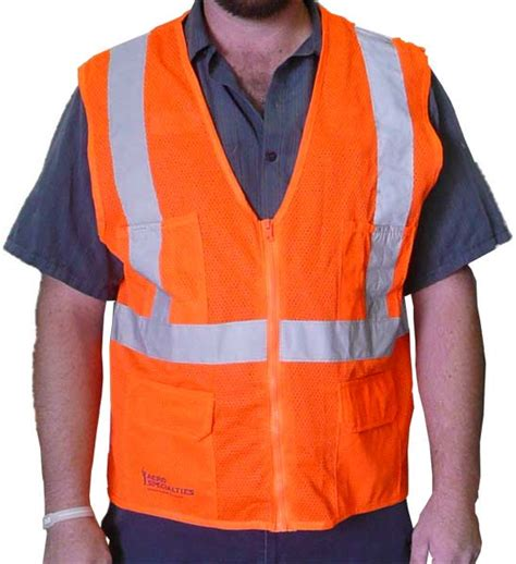 vest orange aero orange reflective safety vest aero specialties