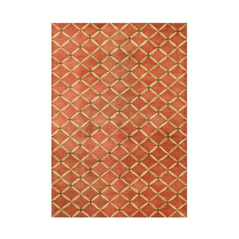 Orange Area Rug 5x8 Orange Rust 5 Ft X 8 Ft Area Rug Ay271 5x8 The Home Depot