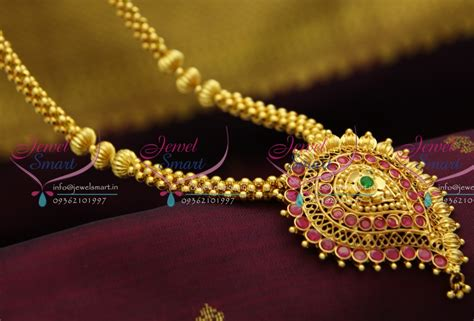 nl2875 beaded jewellery temple kempu south indian