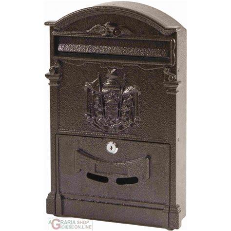 cassette alluminio cassetta della posta in alluminio mod regia colore bronzo
