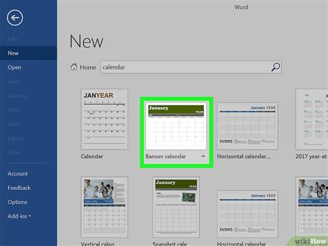 Make A Calendar In Word een kalender maken in word wikihow