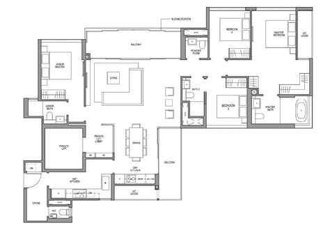 Modern Floor Plan Martin Modern Floor Plans Martin Modern Condo By Guocoland Great World City Mrt