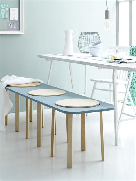 diy ikea bench bench diy ikea stool dining table blue photographer louis lemaire insidehomepage